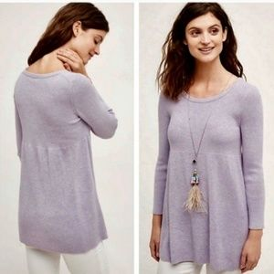 NWT Anthropologie Knitted & Knotted Lilac Sweater